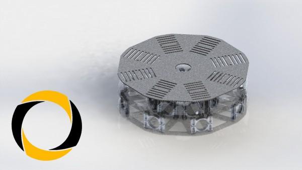 Akkuplatte aus CFK (Carbon) für Octocopter